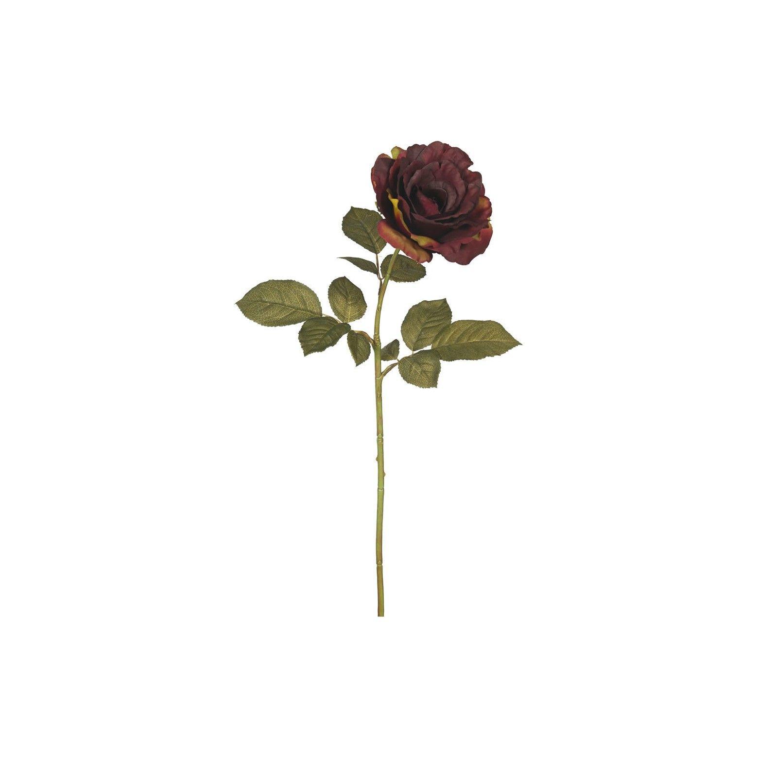 Artificial Autumn French Rose 3pk Dark Burgundy 26 Vickerman French Rose Vickerman Burgundy