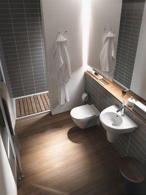 Fliesen, Boden, WC, Holzablage Kleines Bad Pinterest - boden f r badezimmer