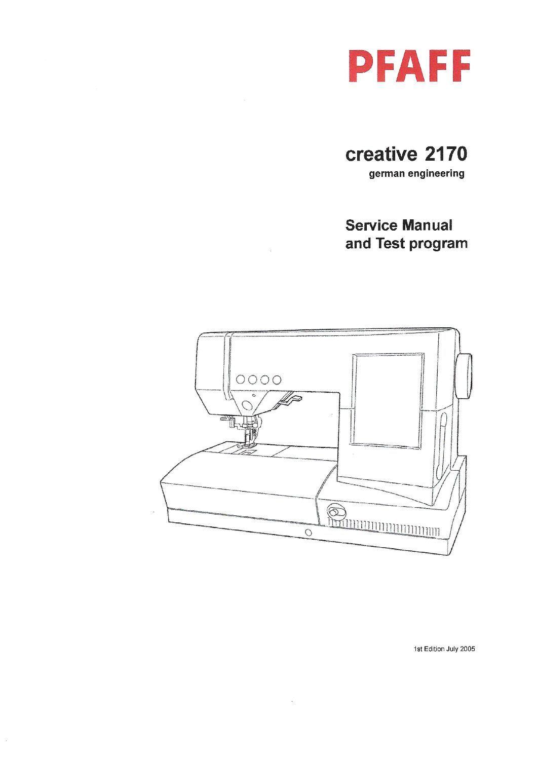 Service Manual Pfaff Creative 2170 Sewing Machine4 in 2020
