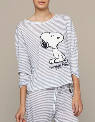 selezione migliore d059e 8f157 Snoopy stripe print top - oysho | pajama kazama