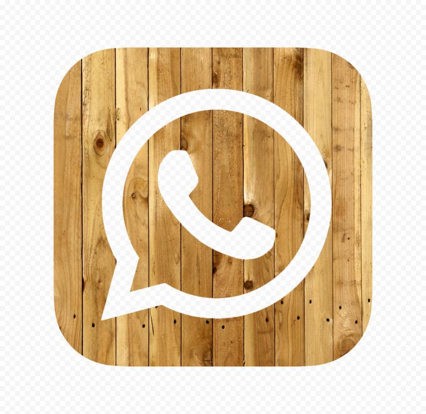 Hd Wooden Wood Whatsapp Wa Square Logo Icon Png Square Logo Logo Icons Icon