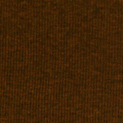 Heather Brown Cotton Baby Ribbed Knit Fabric A Dark Color Is Light To Mid Weight With Nice Stretch And