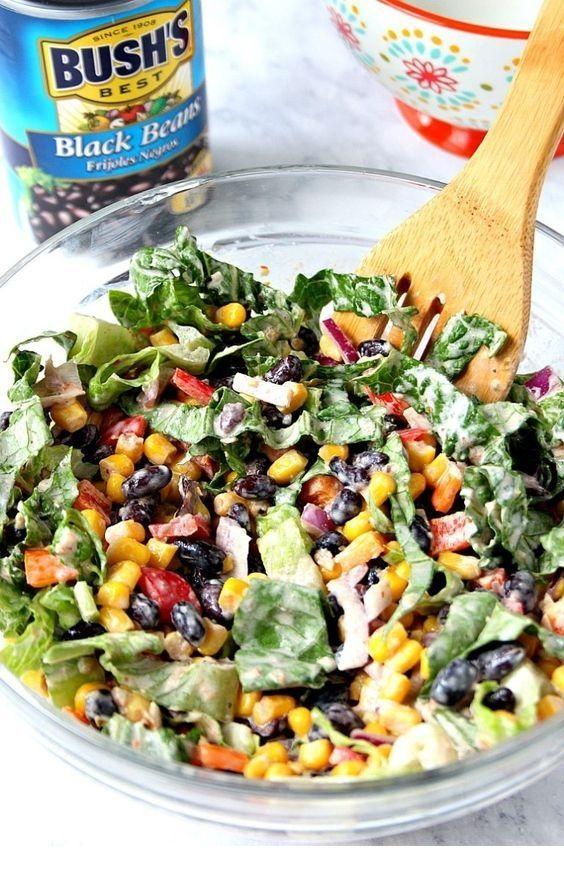 Black Bean Taco Salad #tacosalad
