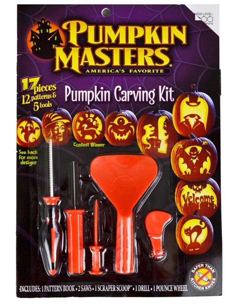Pumpkin Masters Carving Kit 17pc Halloween Decorations 2018