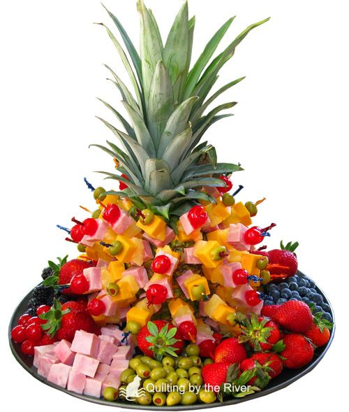 pineapple tree appetizer rivers luau and luau party. Black Bedroom Furniture Sets. Home Design Ideas
