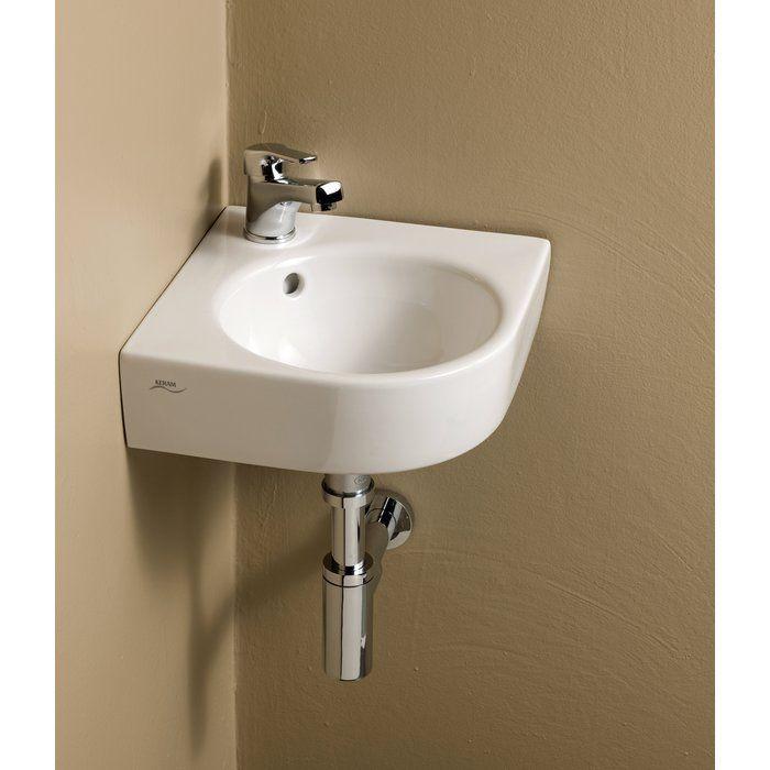Comprimo Ceramic Specialty Wall Mount Bathroom Sink With Overflow Wall Mounted Bathroom Sinks Sink Bathroom Sink