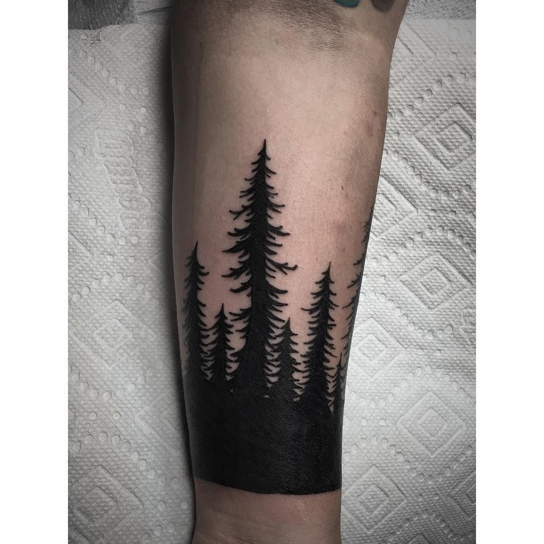 Black trees. tattoo blackestblack Black tree, Leaf