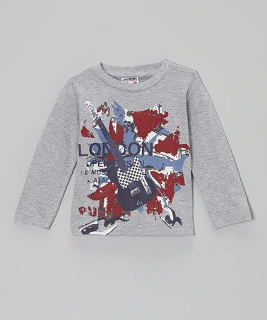 Look what I found on #zulily! Gray 'London' Tee - Infant, Toddler & Boys #zulilyfinds