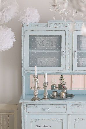 shabby chic schrank buffetschrank shabby chic it is chandeliers and sparkles pinterest. Black Bedroom Furniture Sets. Home Design Ideas