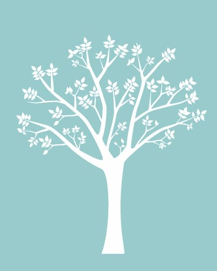 Blooming Tree Wall Decal - love the idea of putting this on the wall, behind baby's crib