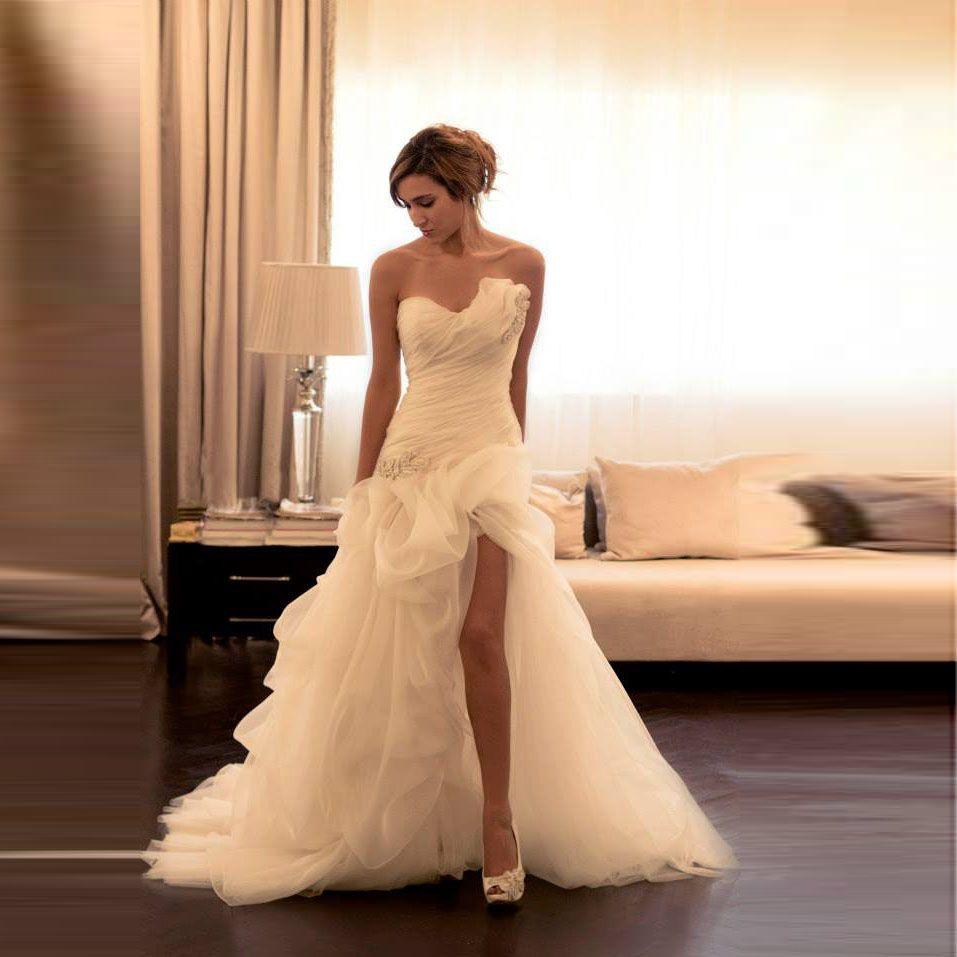 Cheap high low wedding dresses  Find More Wedding Dresses Information about Trajes De Novias Hi Low