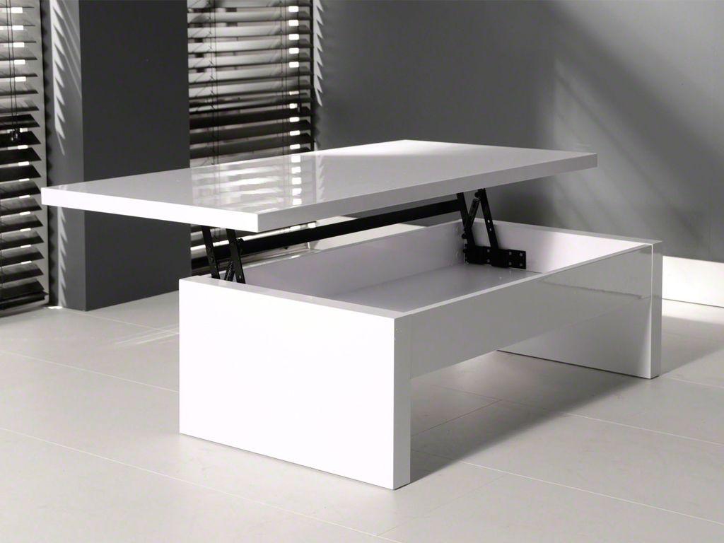 Salon Tafel Wit : Hoogglans salontafel wit opklapbaar blad cm home