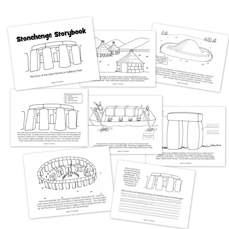 Free printable Stonehenge Storybook from Layers of