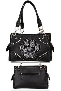 Midnight Sparkle Paw Print Purse At The Animal Rescue Site
