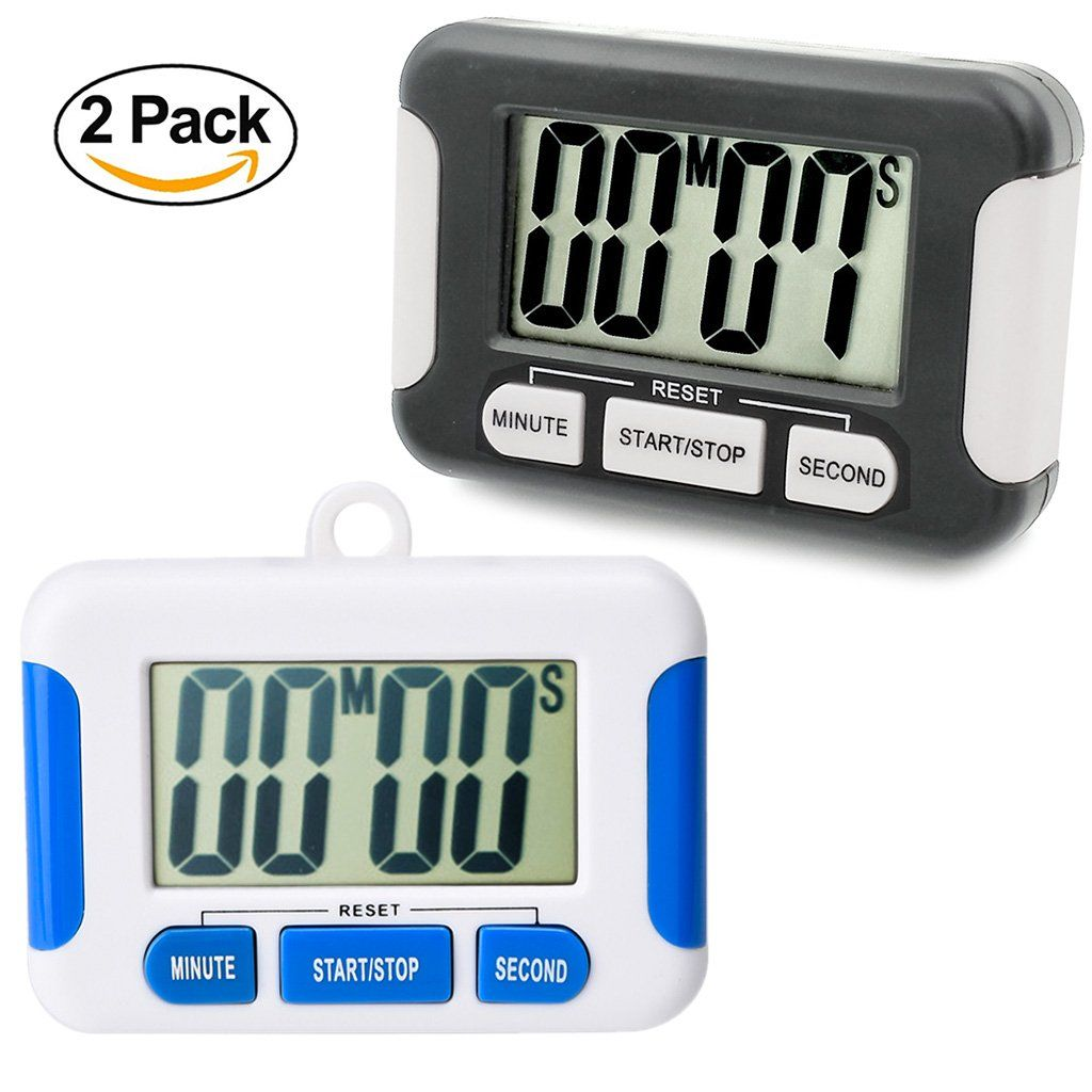 Kitchen Timer 2 Pack Digital Electronic Clock Alarm Small Size Super ...