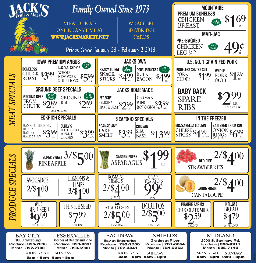jacks fruit and meat market weekly ad jan 28 feb 03 2018 http