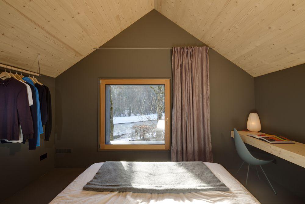 Extravagantes Holzhaus in Oberaudorf zu Vermieten House House - schlafzimmer ohne fenster