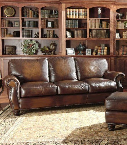 Avellino 100 Full Aniline Italian Leather Sofa Artisano Highlight Cognac Click On The Image For Additional Details Italian Leather Sofa