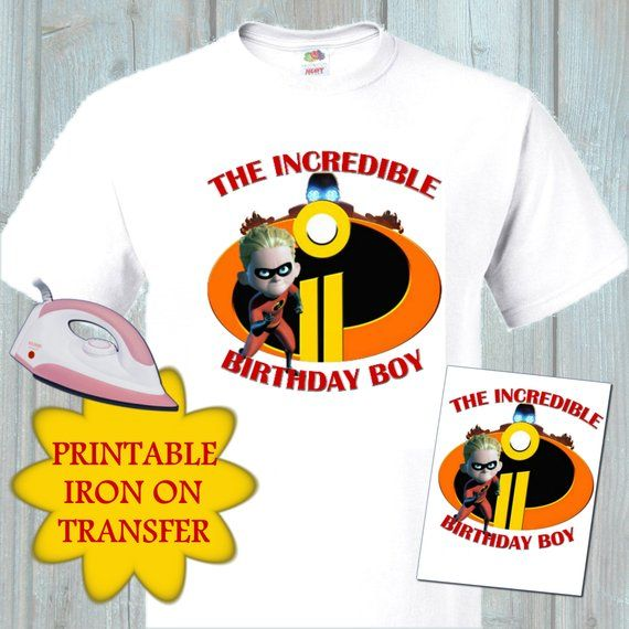 Incredibles 2 Birthday Boy Iron On Transfer Incredible T Shirt