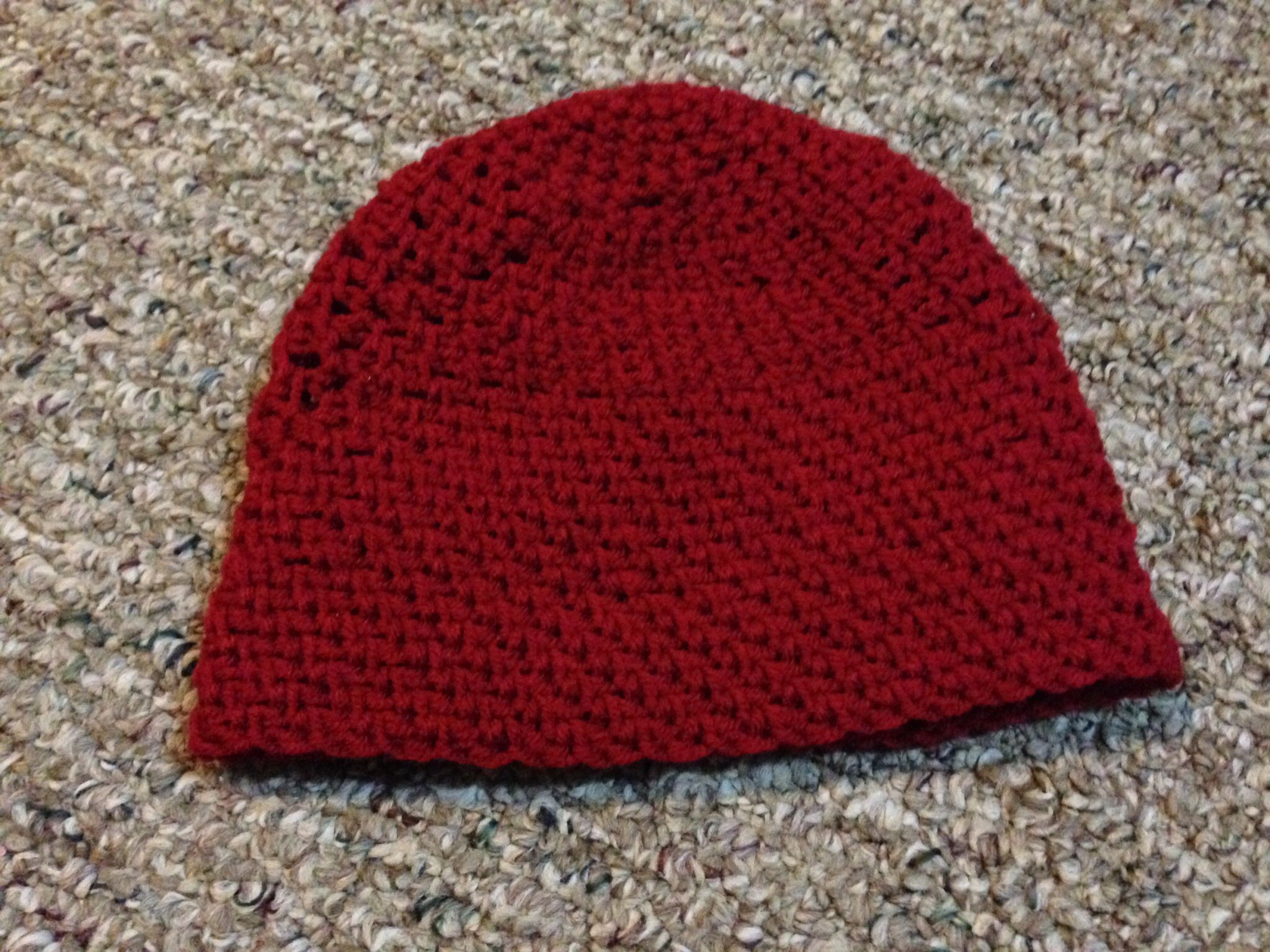 Simple beanie - Crochet... All single crochet. Pattern on About.com ...
