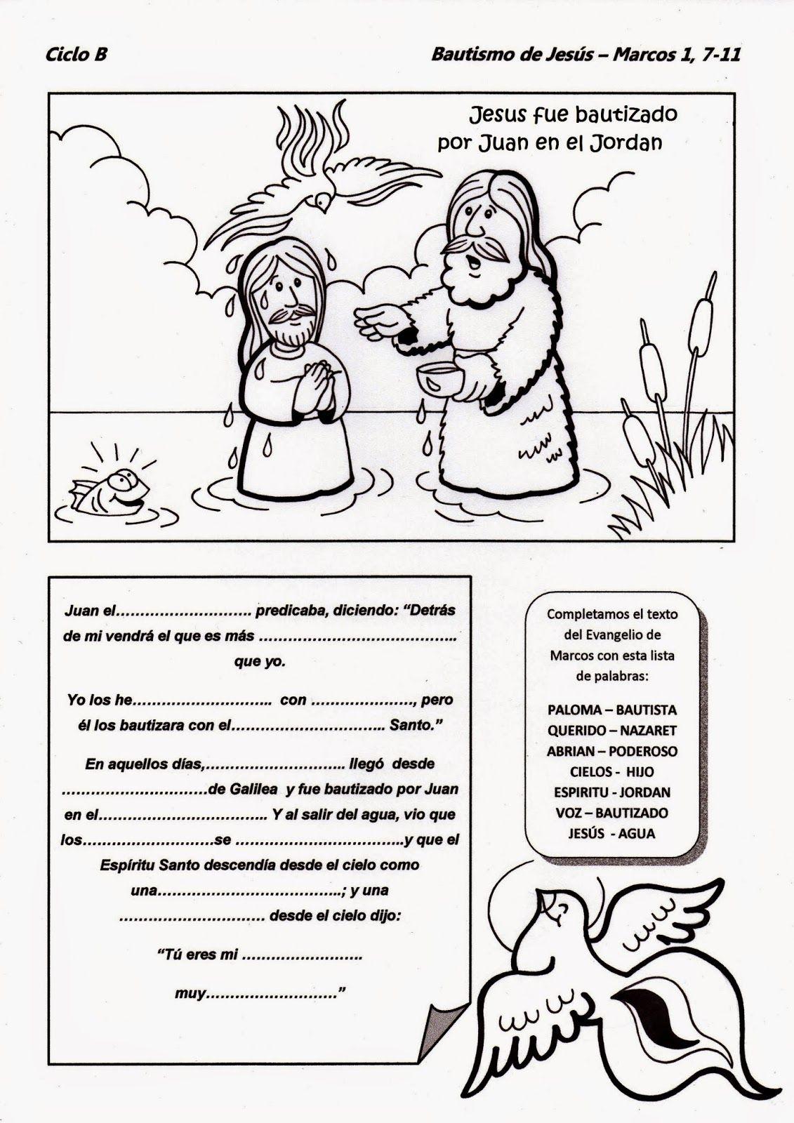Matrimonio Catolico Resumen : El rincón de las melli bautismo jesús ciclo b
