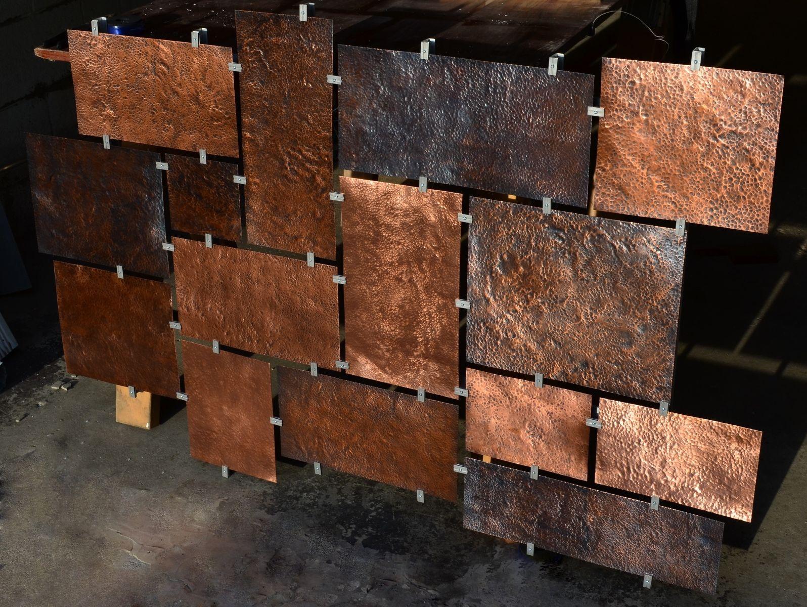 Custom hammered copper wall art copper wall art copper