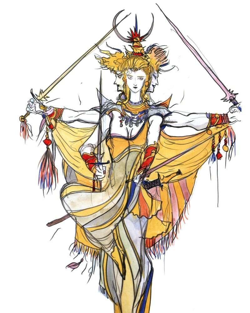 Yoshitaka Amano Asura Final Fantasy Iv Final Fantasy Artwork Final Fantasy Art Fantasy Concept Art