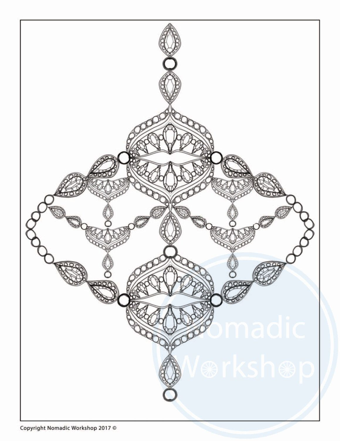 Printable Coloring Pages For Adults Necklace Drawing Coloring Page