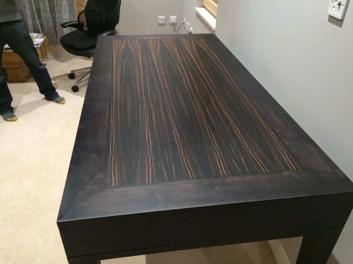 Stained Walnut Ebony And Maple Commission Desk Wood Stain Pinterest Desks Wood Stain And