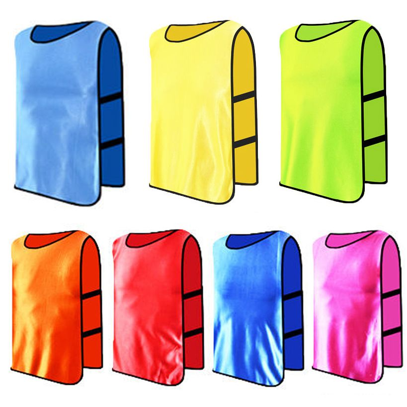 New 7colors Training Football Bibs Soccer Rugby Basketball Cricket Sports Vests Sport Outfits Football Bibs Sports Vest