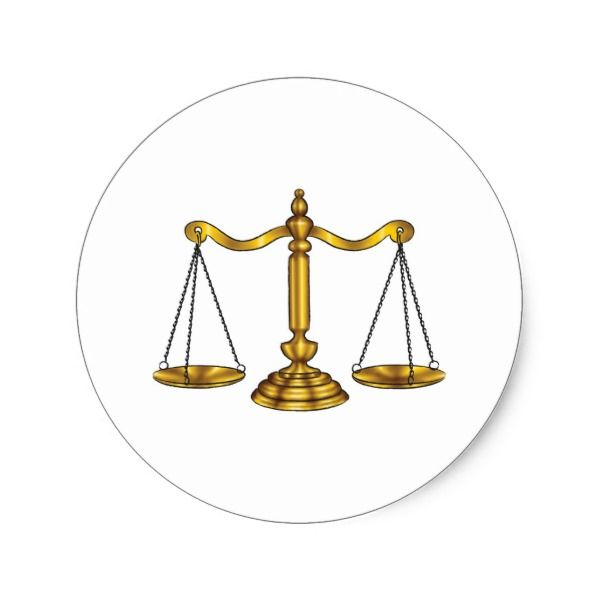 Attorney Lawyer Legal Scales Classic Round Sticker Stickers