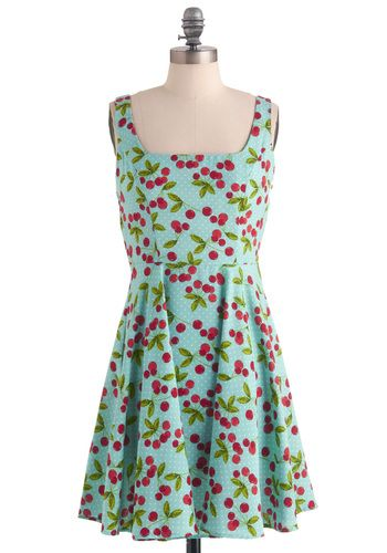 Very Berry Charming Dress in Cherries, #ModCloth