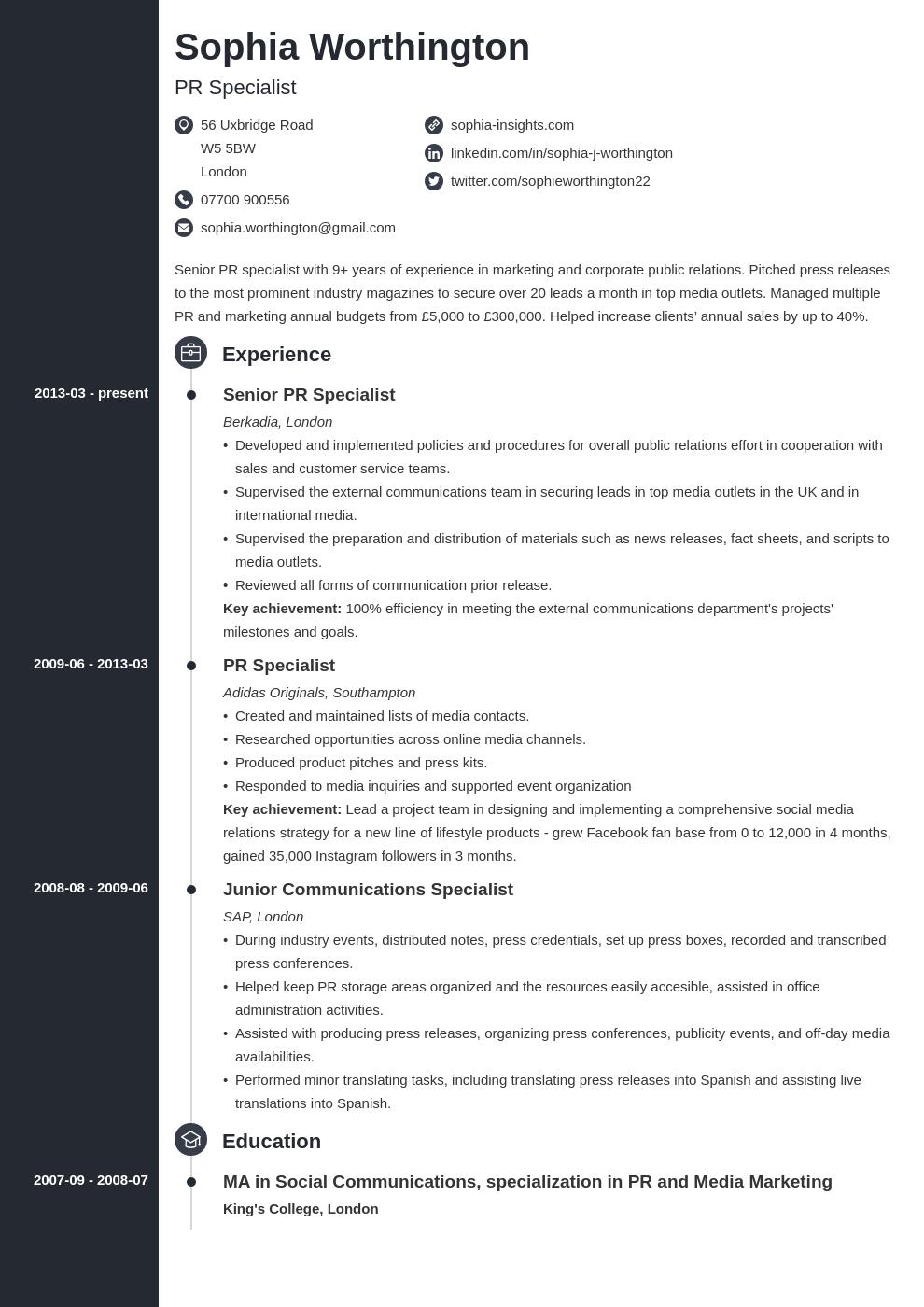 cv personal statement profile template concept in 2020