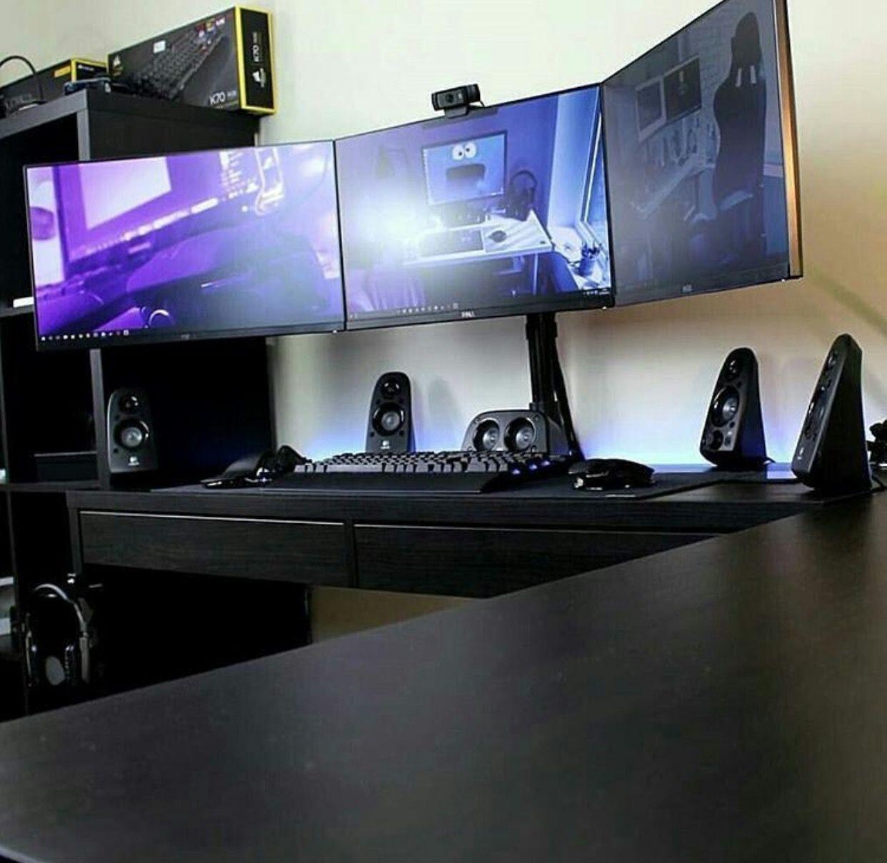 Pin von Noah auf Gaming-Setup | Pinterest | Schreibtische ...