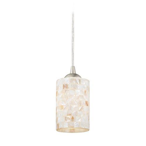 Modern mini pendant light with art glass 582 09 gl1026c destination lighting