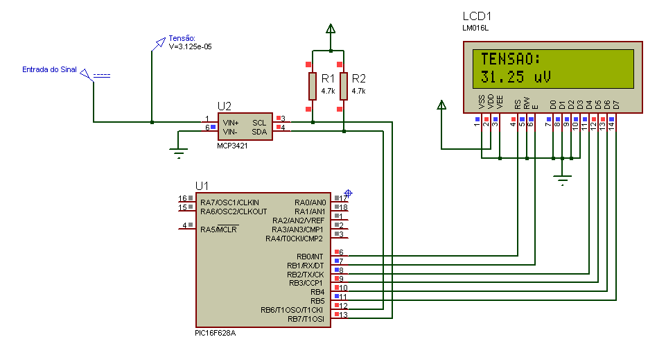Microcontrollers: PIC MCP3421 18bit ADC | Microcontroller | Diagram