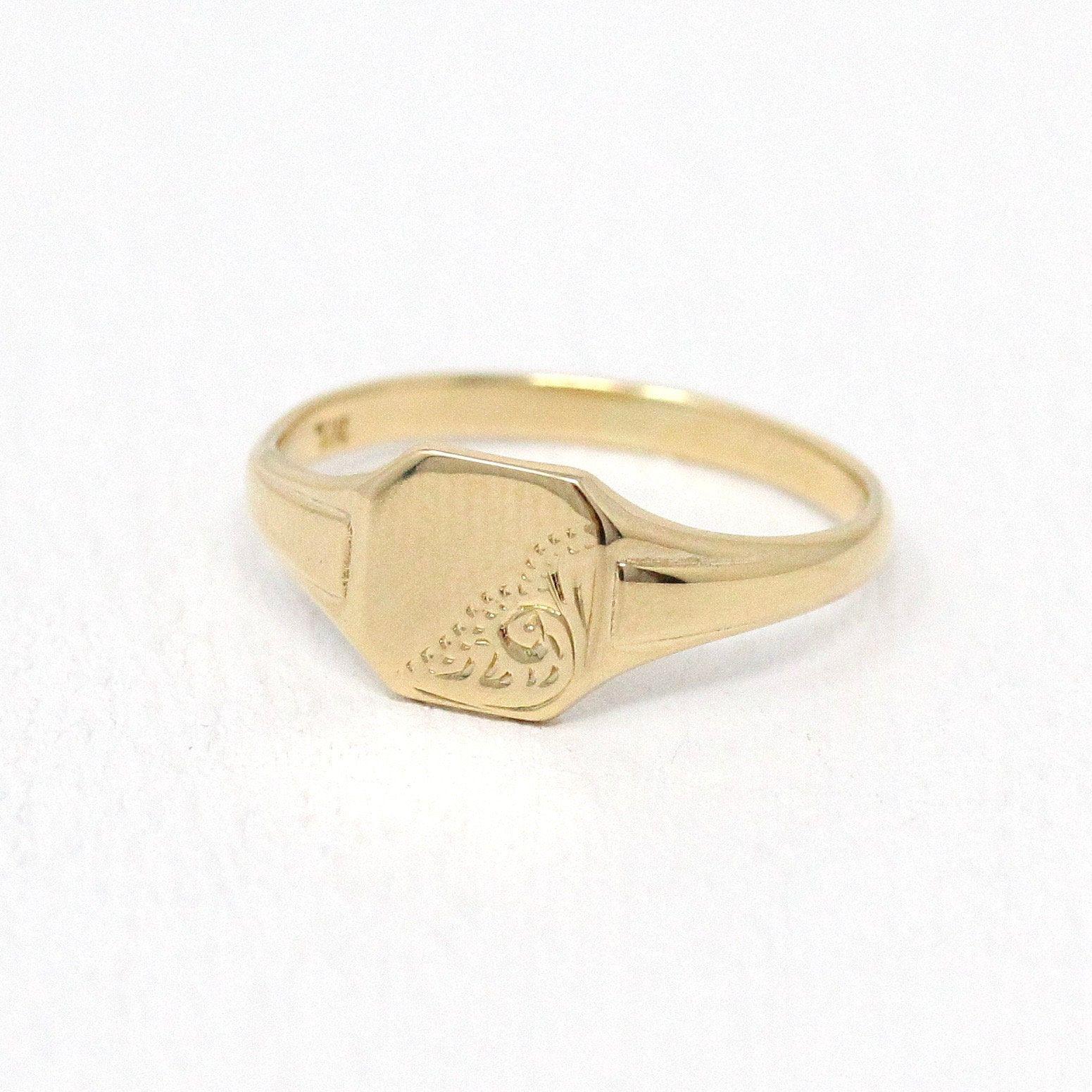1940s Size 4 34 Rectangular Flower Fine Jewelry Sale Vintage Onyx Ring 10k Rosy Yellow Gold Diamond Black Gemstone Statement