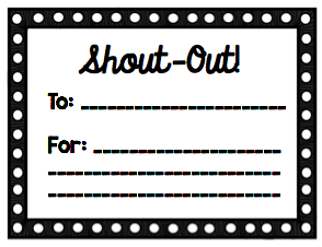 Staff Shout Outs Shout Out Teacher Appreciation Luncheon Staff Motivation