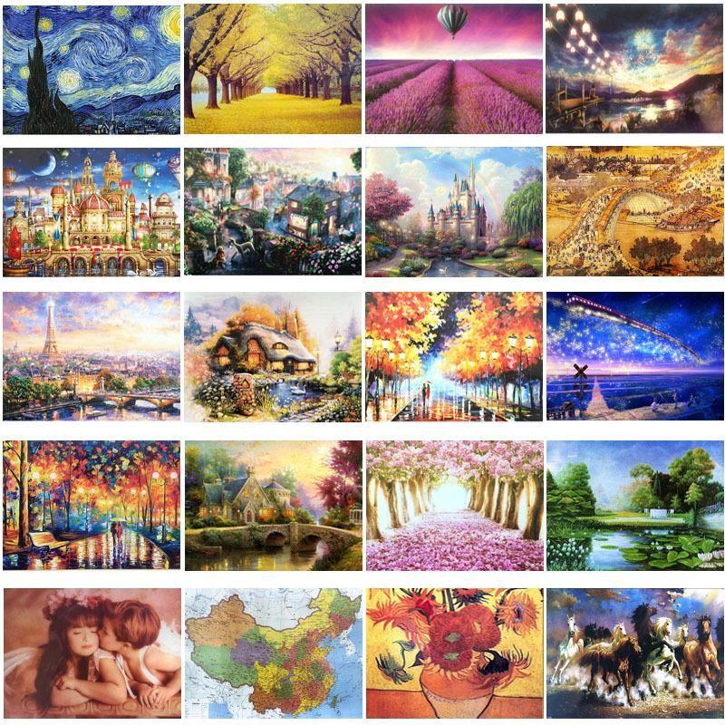Landscape Pattern DIY Puzzles 1000 Pcs Jigsaw Kids Adults Educational Toys New