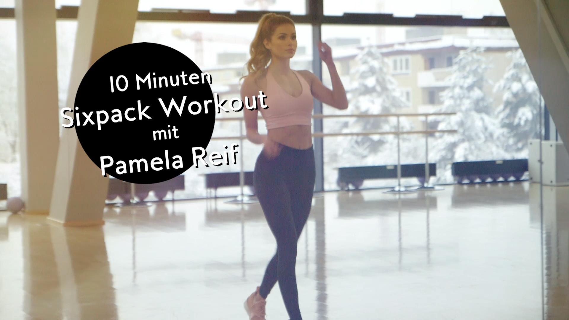 Ein Sixpack bekommen – in nur 10 Minuten? Das geht! Fitness-Model und Puma-Testimonial Pamela Reif b...