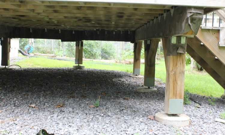 Should You Put Gravel Under A Deck Here S The Answer In 2020 Under Deck Landscaping Deck Landscaping Decks And Porches