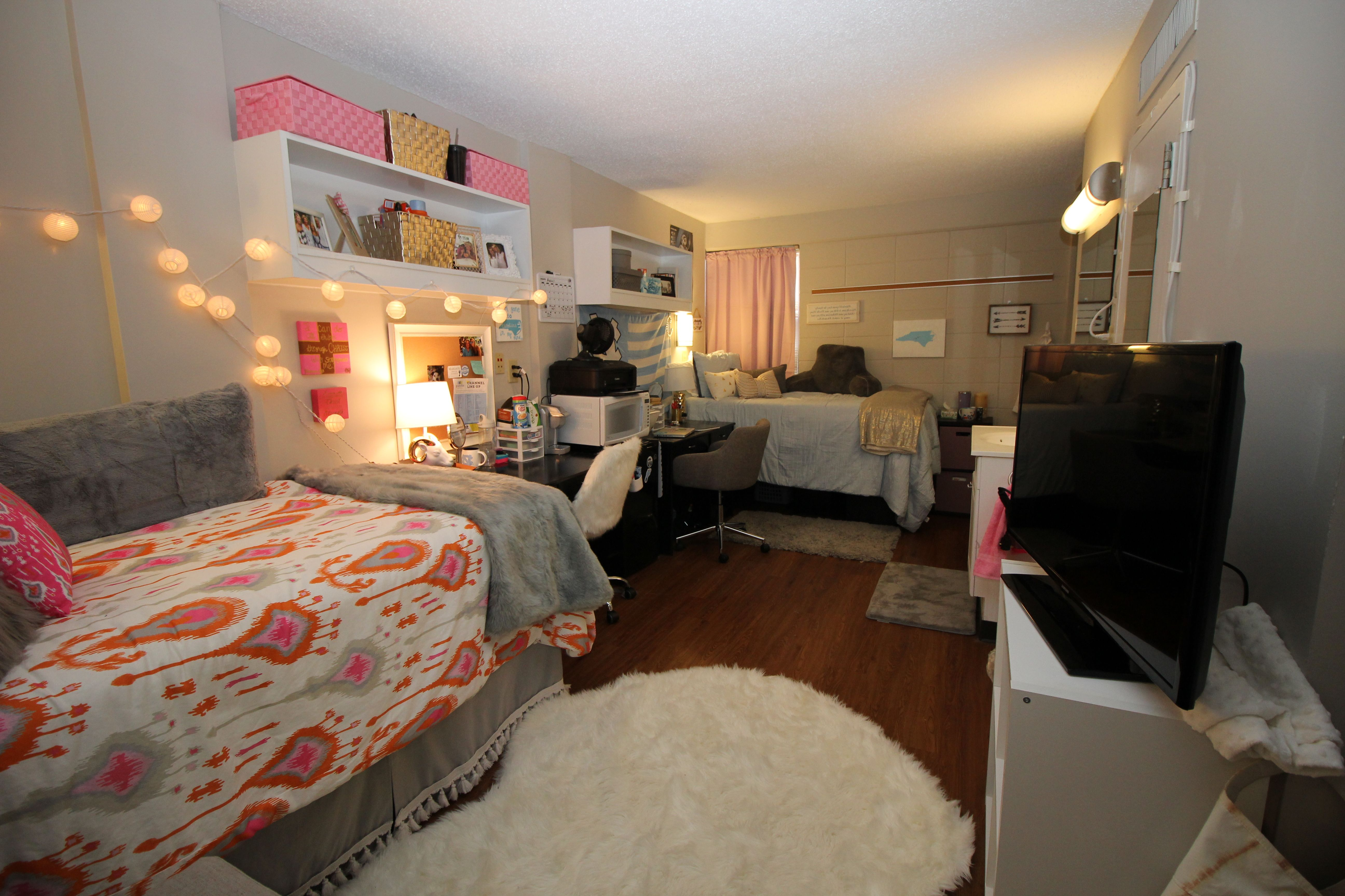 Traditional Double Room Decorated By A Resident Dorm