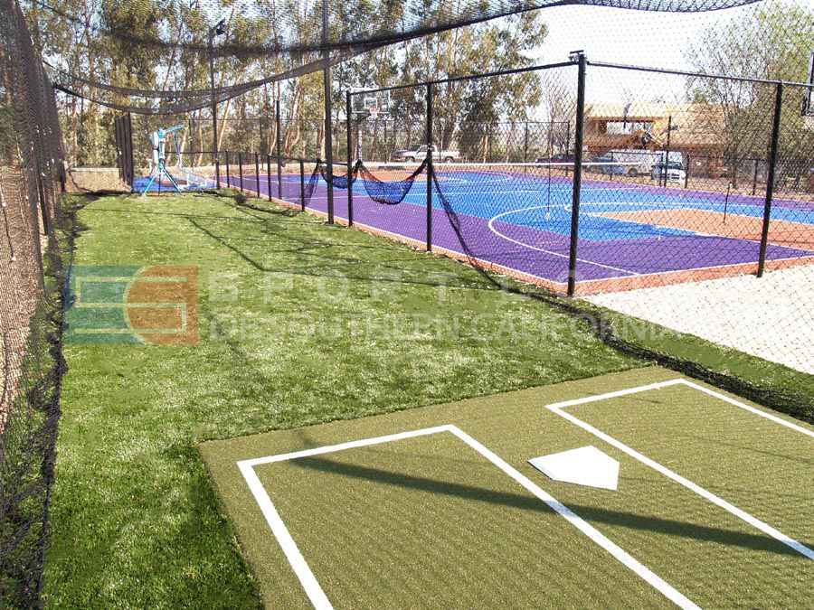 Custom Backyard Batting Cage with Custom Backyard ...