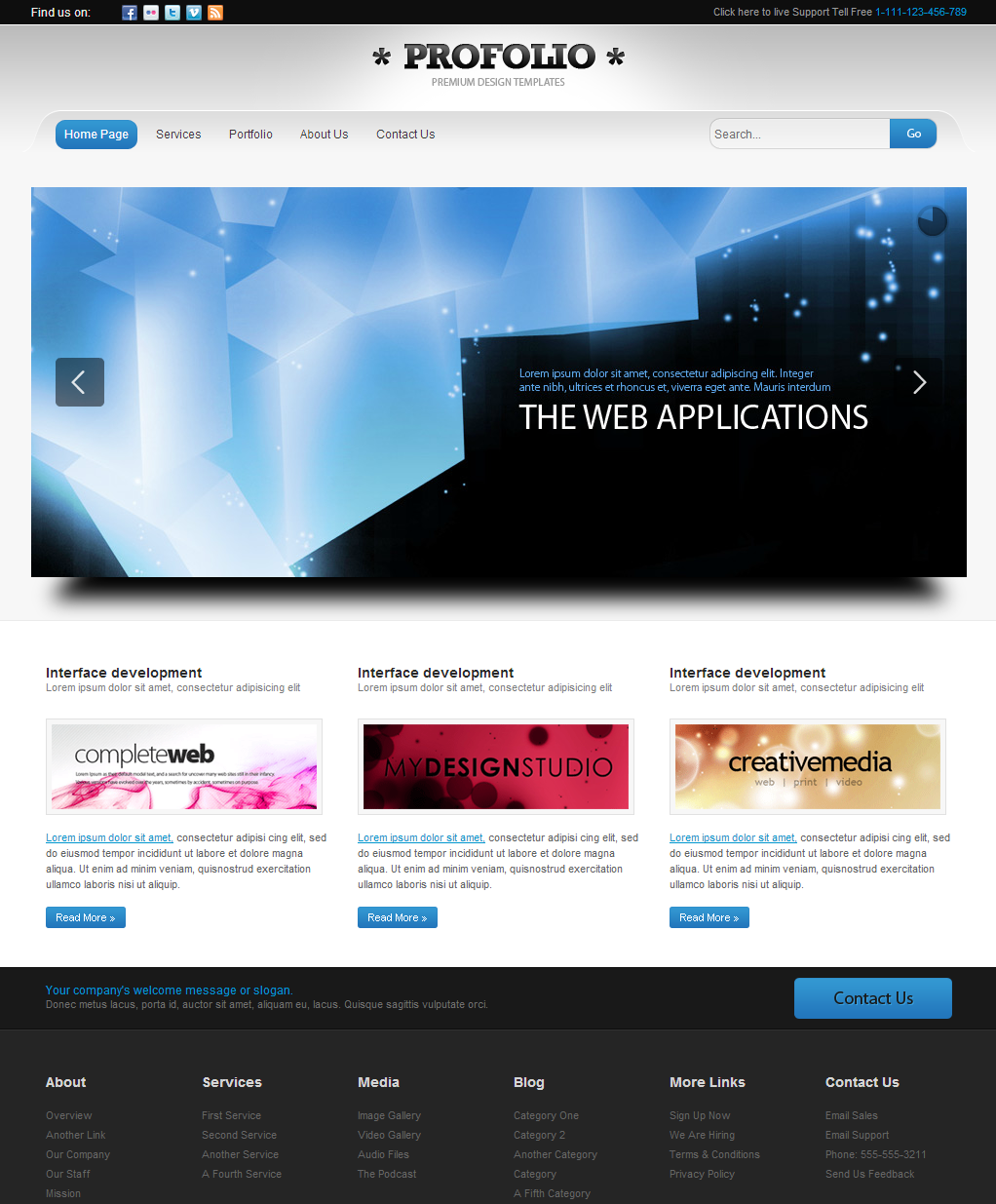 Portfolio is a free html template. The design layout supports ...