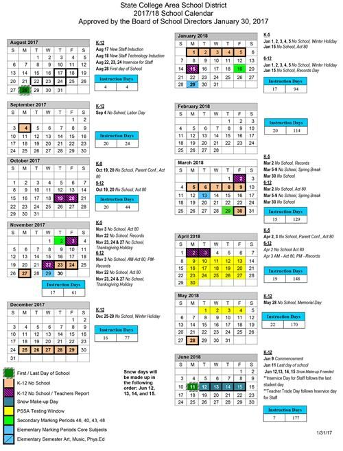 Psu Academic Calendar Calendar School Calendar