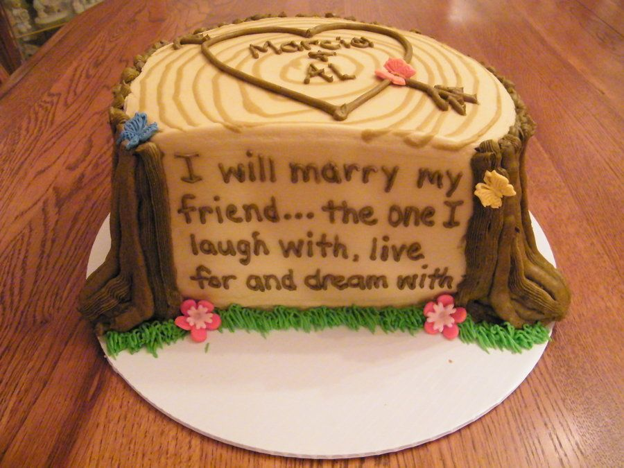 Rehearsal Dinner Cake Marry My Friend By Gran Cakesdecor