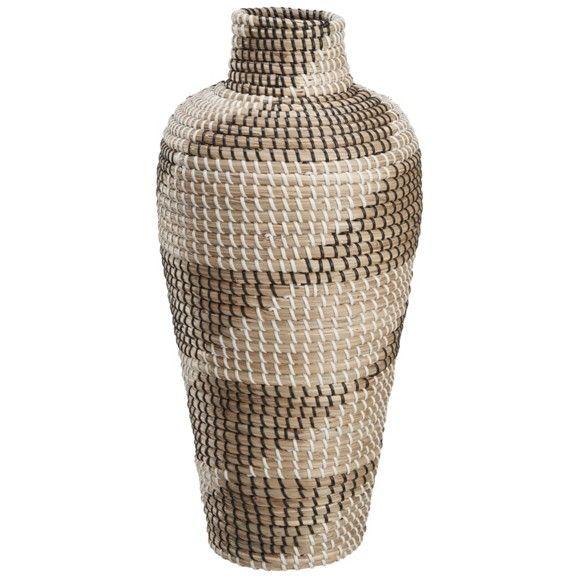 Korbvase aus Naturmaterialien - das wohnliche Accessoire für jeden Raum