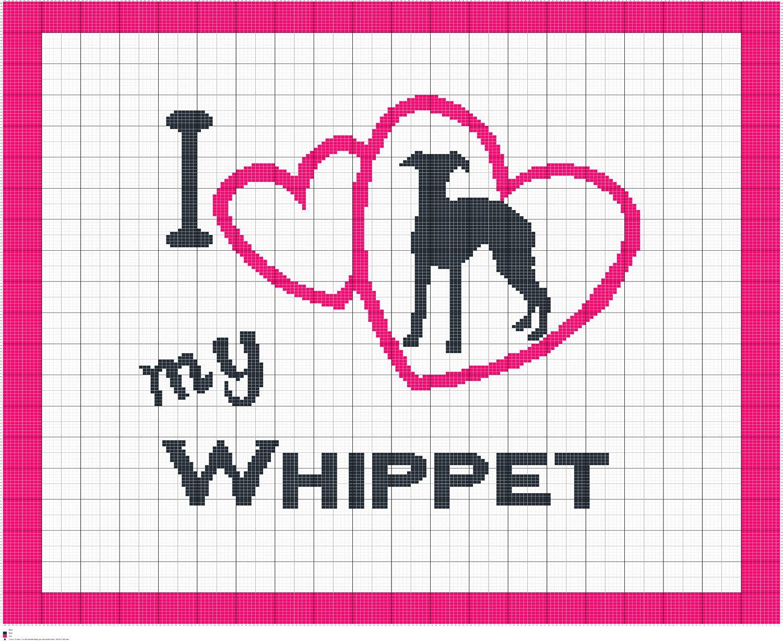 Encantador Patrones Que Hacen Punto Para Whippets Ornamento - Manta ...