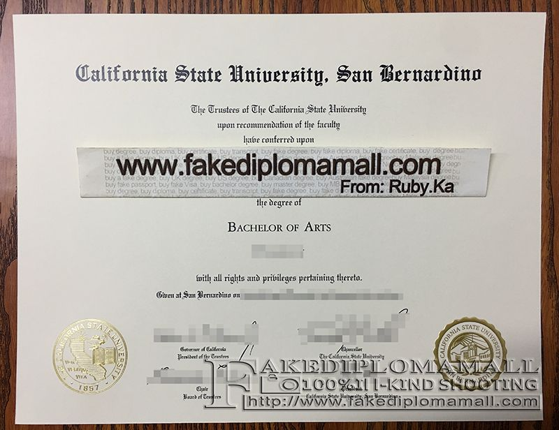 California State University San Bernardino Fake Degree Where To