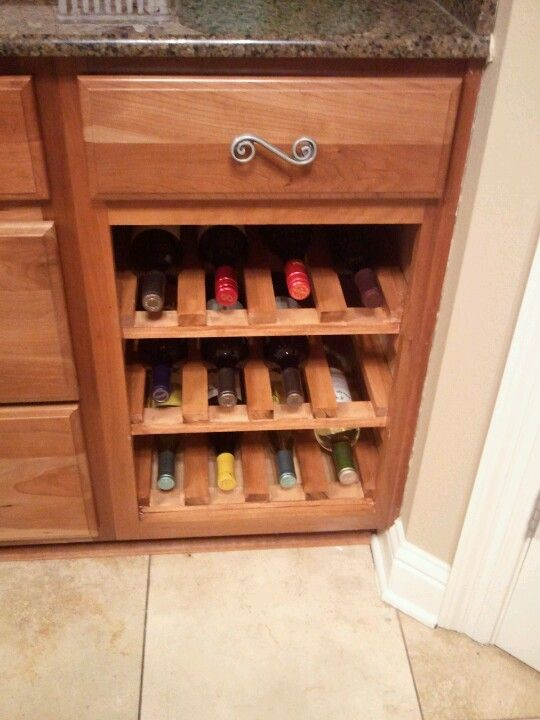 Diy Wine Rack With Slats Love The Drawer Pull With Images Diy